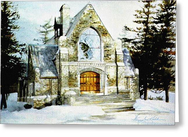 Blenheim Chapel Greeting Card by Hanne Lore Koehler