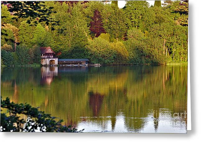 Grade 1 Greeting Cards - Blenheim Palace Boathouse 2 Greeting Card by Jeremy Hayden