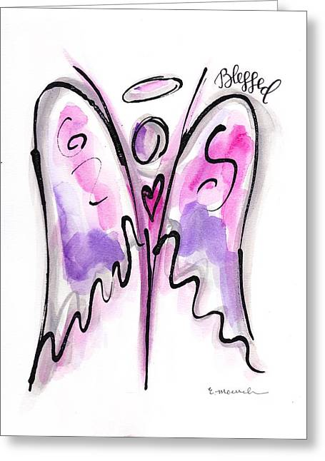 Etc. Paintings Greeting Cards - Bless my girl Greeting Card by Elizabeth Moersch