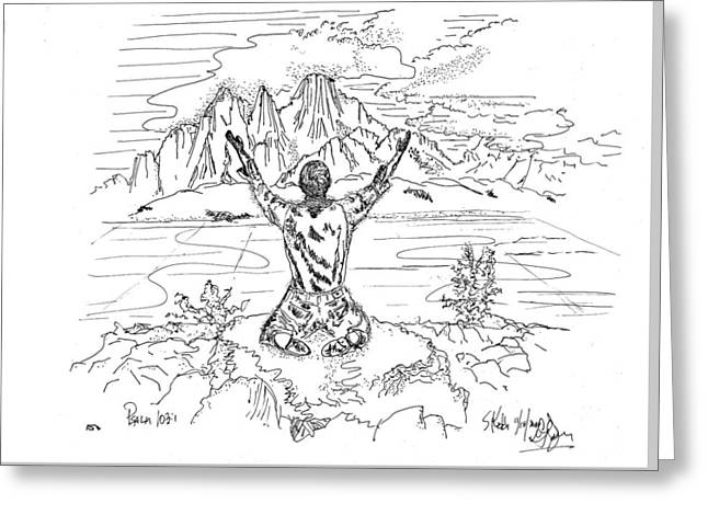 Scripture Drawings Greeting Cards - Bless The Lord Greeting Card by Glenn McCarthy Art and Photography
