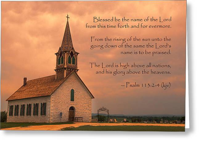 Glory Honor Greeting Cards - Bless The Lord Greeting Card by Stephen Stookey
