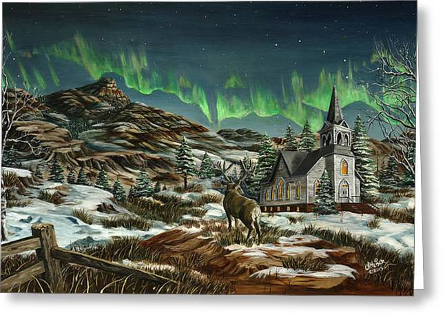 Redlin Greeting Cards - Blessed Beauty Greeting Card by Jim Olheiser