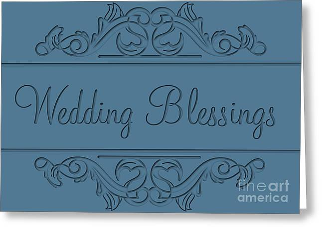 Wife Greeting Cards - Blessed Engraved Love Deco Greeting Card by JH Designs