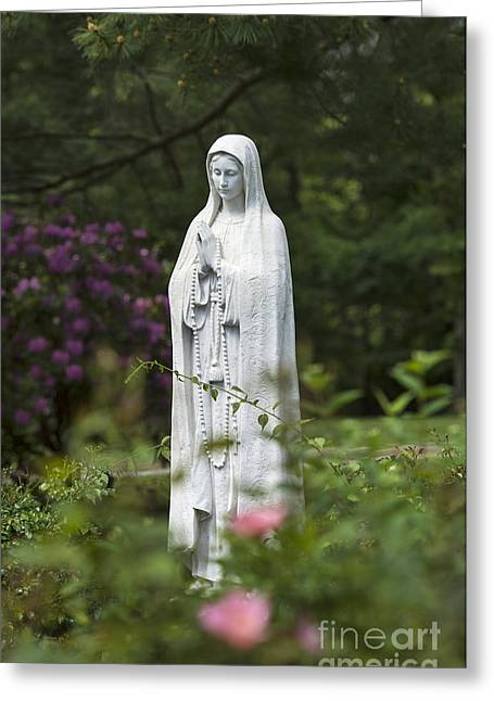 Blessed Mother Greeting Cards - Blessed Mother Greeting Card by John Greim