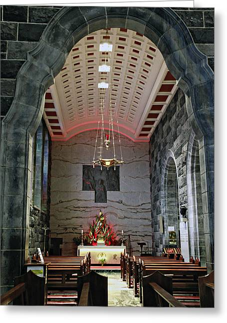 Mahogany Red Greeting Cards - Blessed Sacrament Chapel Greeting Card by Charrie Shockey