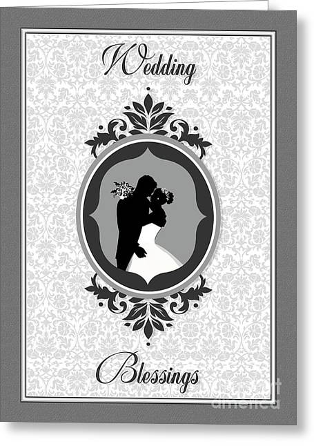 Special Occasion Greeting Cards - Blessed Wedding Embrace Greeting Card by JH Designs