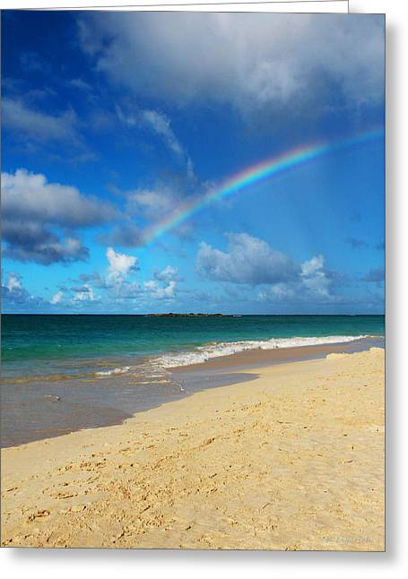 Oahu Greeting Cards - Blessed With A Rainbow Greeting Card by Kerri Ligatich