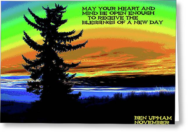 Spokane Greeting Cards - Blessings of a New Day Greeting Card by Ben Upham