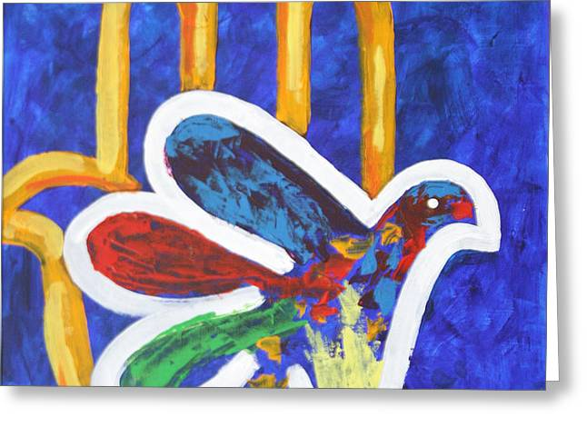 BLESSINGS OF PEACE Greeting Card by Mordecai Colodner