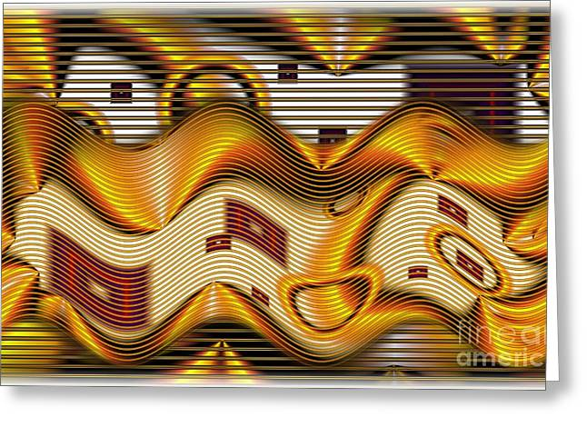 Distortion Greeting Cards - Blinds Greeting Card by Ron Bissett
