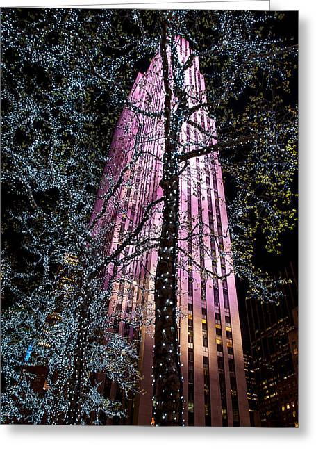 Top Of The Rock Greeting Cards - Bling Greeting Card by Az Jackson