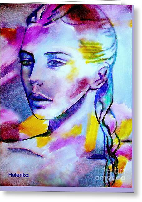 Print On Canvas Greeting Cards - Blissful Greeting Card by Helena Wierzbicki