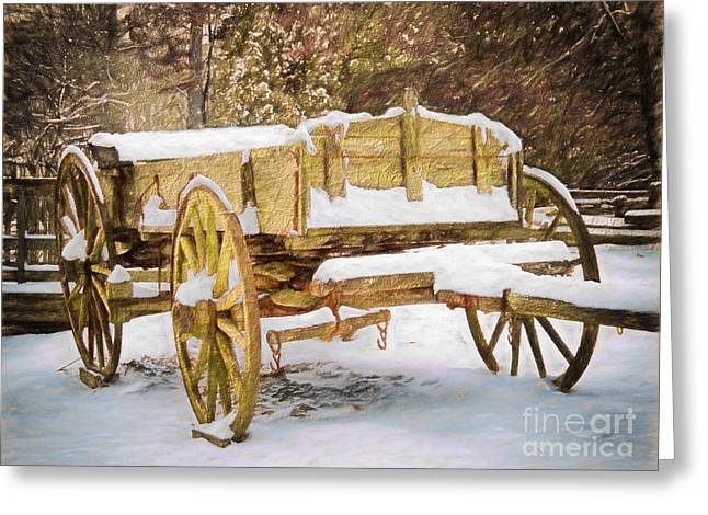 Wagon Sales Greeting Cards - Blizzard Bound II Greeting Card by Dan Carmichael