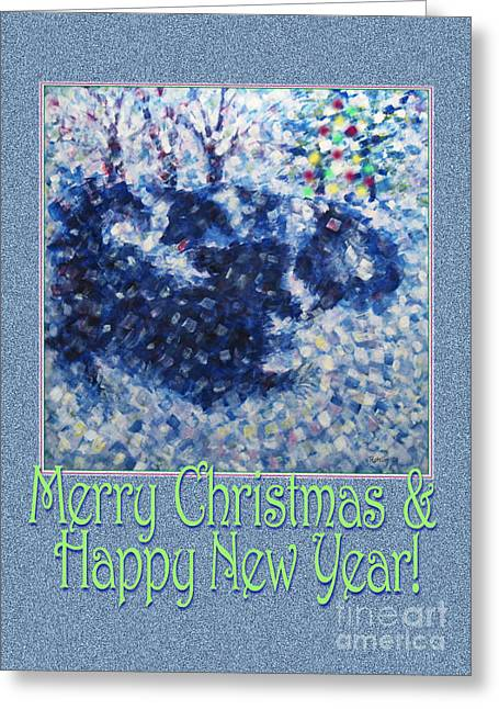 Playing Cards Greeting Cards - Blizzard / Holiday 1 Greeting Card by Jim Rehlin