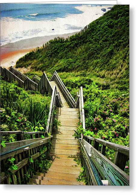 Trails Greeting Cards - Block Island Greeting Card by Lourry Legarde