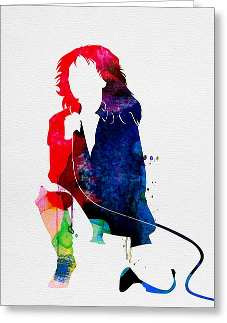 Pop Singer Greeting Cards - Blondie Watercolor Greeting Card by Naxart Studio