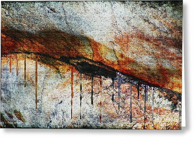 Blood From A Stone Greeting Card by RC deWinter