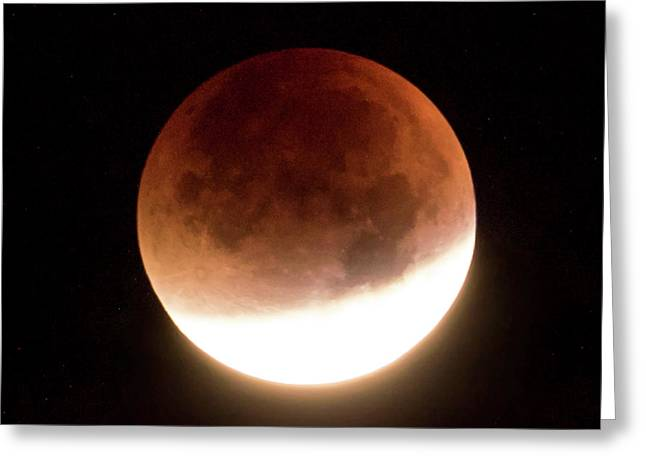 Luna Greeting Cards - Blood Moon Eclipse Greeting Card by Wim Lanclus