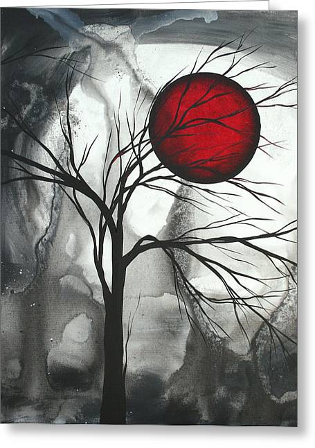 Red Art Greeting Cards - Blood of the Moon 2 by MADART Greeting Card by Megan Duncanson