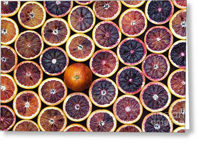 Blood Oranges Greeting Card by Tim Gainey