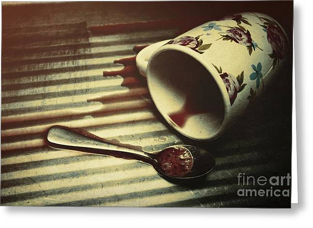 Blood, Spills And Tears Greeting Card by Jorgo Photography - Wall Art Gallery