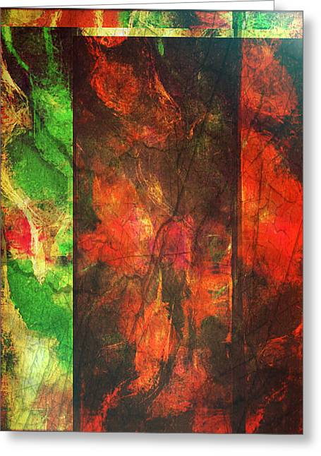 Abstract Digital Mixed Media Greeting Cards - Blood Ties Greeting Card by Aurora Art