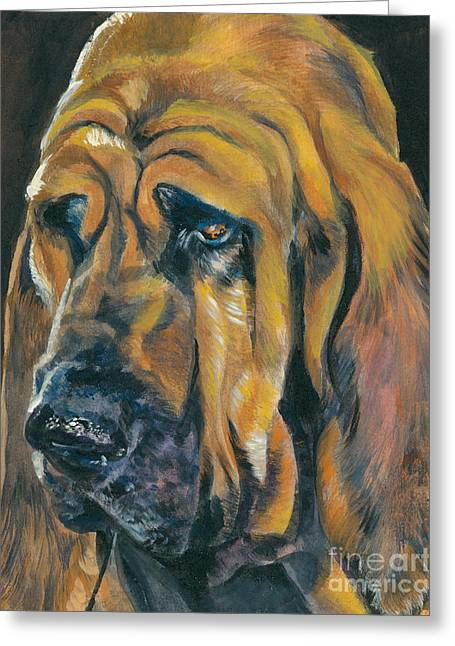 Bloodhounds Greeting Cards - Bloodhound Greeting Card by Lee Ann Shepard