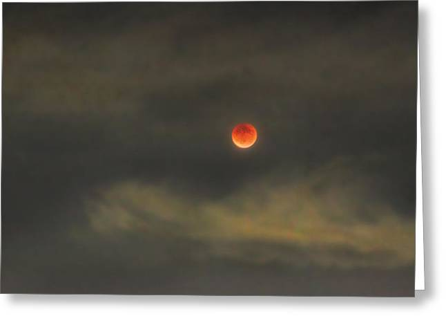 Dracula Digital Greeting Cards - Bloody Clair de Lune Greeting Card by Hsin Liu