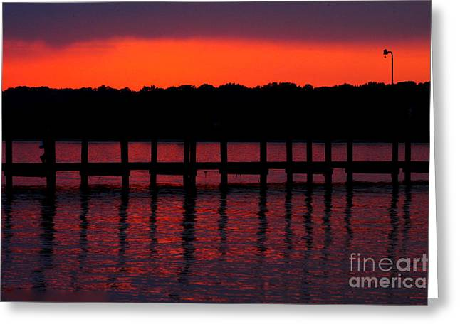 Bruster Greeting Cards - Bloody Dusk Greeting Card by Clayton Bruster