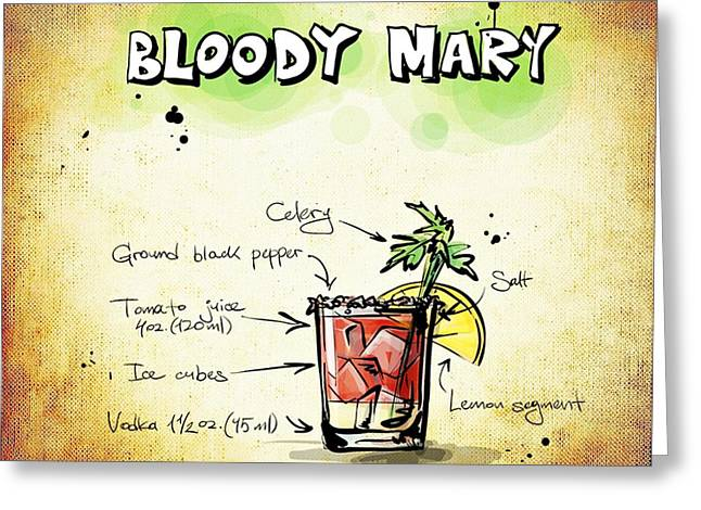 Bloody Mary Greeting Card by Movie Poster Prints