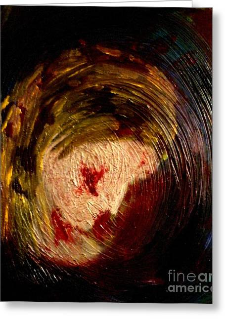 Hallucination Greeting Cards - Bloody Nightmare Greeting Card by Kristen Diefenbach