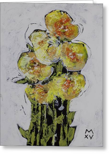 Outsider Art Greeting Cards - BLOOM No. 2  Greeting Card by Mark M  Mellon