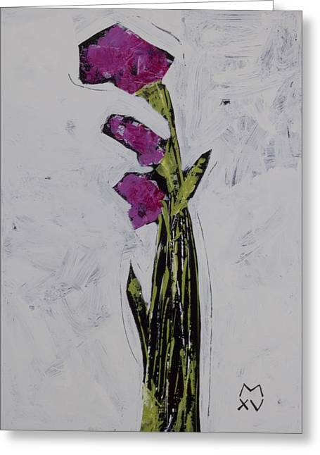 Abstract Expressionist Greeting Cards - BLOOM No. 5 Greeting Card by Mark M  Mellon