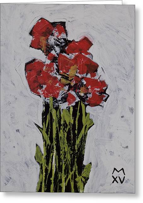 Outsider Art Mixed Media Greeting Cards - BLOOM No. 6 Greeting Card by Mark M  Mellon