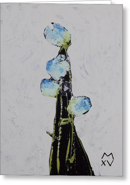 Outsider Art Mixed Media Greeting Cards - BLOOM No. 7  Greeting Card by Mark M  Mellon