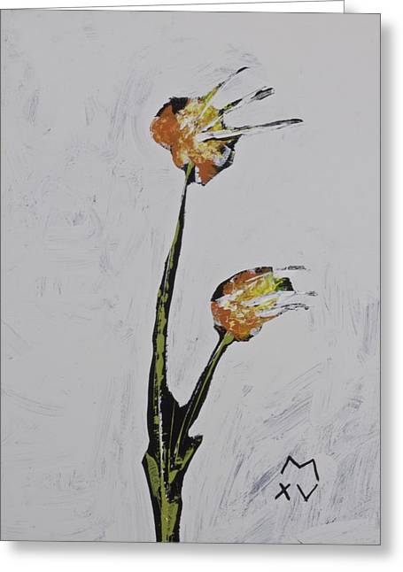 Abstract Expression Greeting Cards - BLOOM No. 8  Greeting Card by Mark M  Mellon