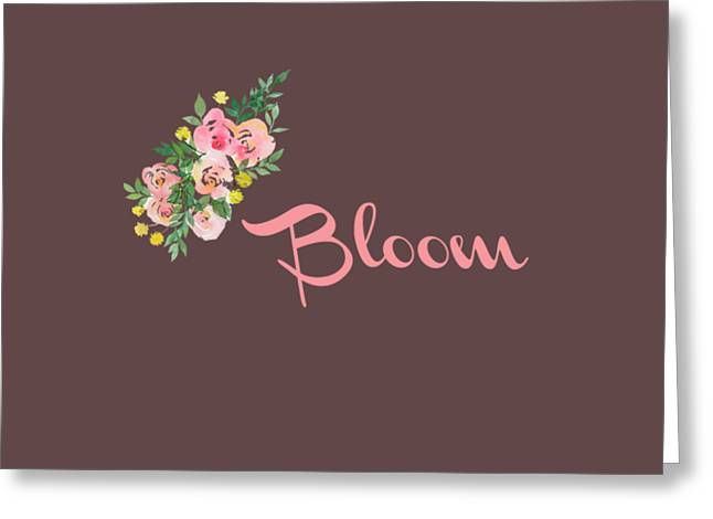 Bloom Greeting Card by Rosemary OBrien