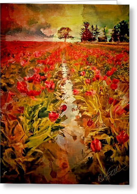 Woodburn Greeting Cards - Bloomin Tulips Greeting Card by Dale Stillman