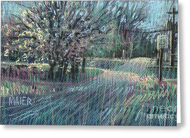 Air Pastels Greeting Cards - Blooming Bradford Greeting Card by Donald Maier