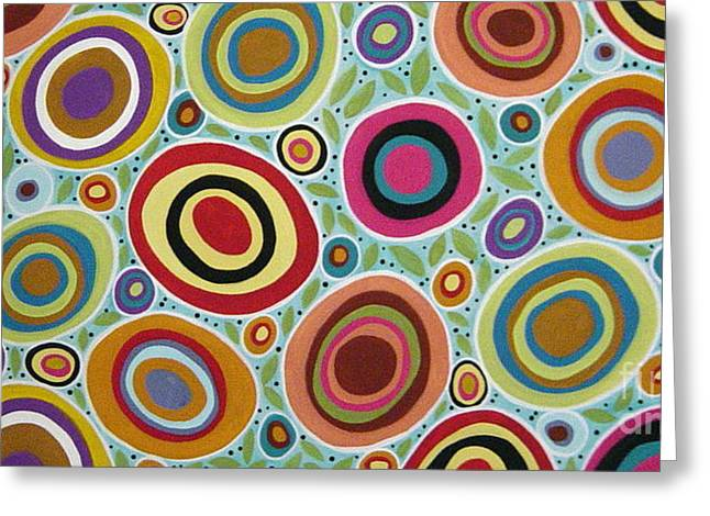 Circles Greeting Cards - Blooming Garden Greeting Card by Karla Gerard