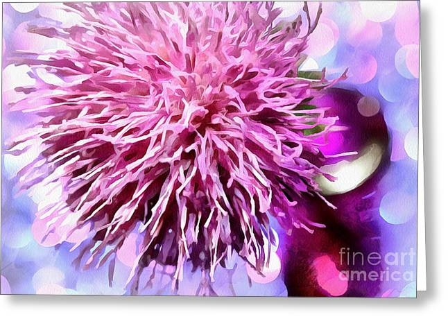 Abstract Digital Photographs Greeting Cards - Blooming In Bokeh Greeting Card by Krissy Katsimbras