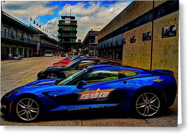 Indy Car Greeting Cards - Bloomington Gold at IMS Greeting Card by Jonathan Williams