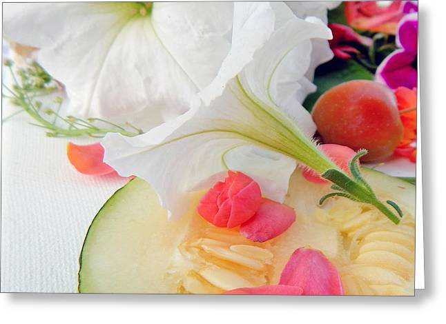 White Greeting Cards - Blooms And Seeds Greeting Card by Lisa Kaiser