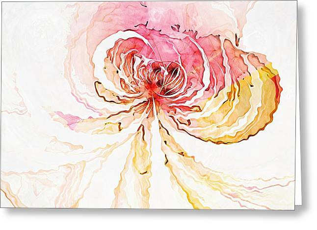 Fractals Fractal Digital Art Greeting Cards - Blossom Greeting Card by Amanda Moore