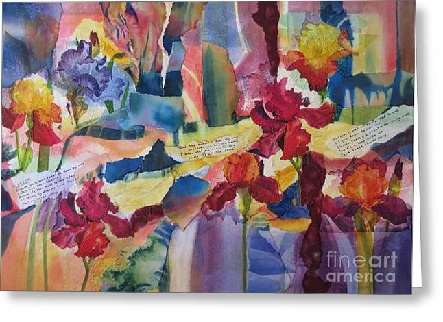 Deb Ronglien Watercolor Greeting Cards - Blossom Greeting Card by Deborah Ronglien