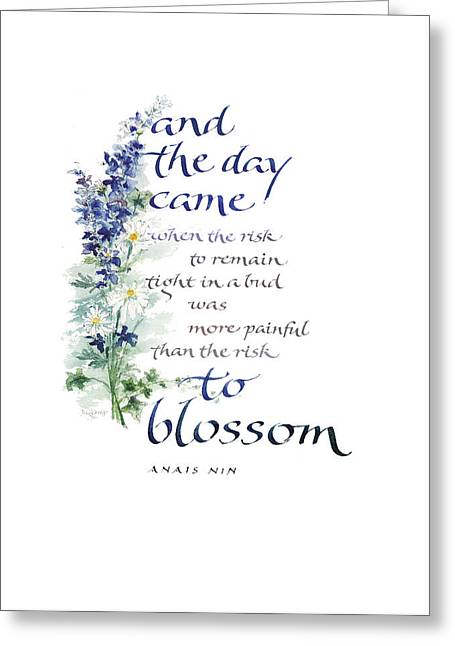 Blossom I Greeting Card by Judy Dodds