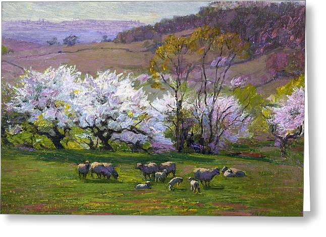Henry Greeting Cards - Blossom Time Greeting Card by Edward Henry Potthast