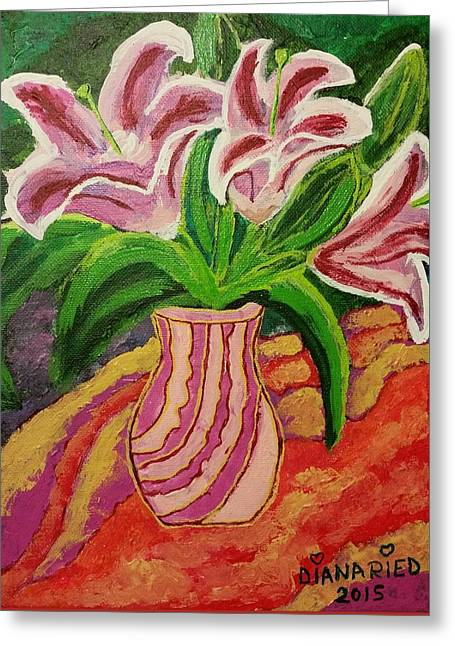 Table Greeting Cards - Blossom  with purpose Greeting Card by Diana Riedling