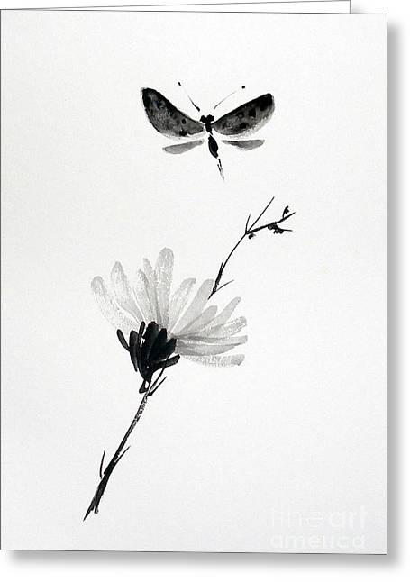 Blossomfly Greeting Card by Sibby S