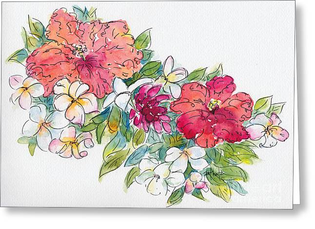 Boras Greeting Cards - Blossoms of French Polynesia Greeting Card by Pat Katz